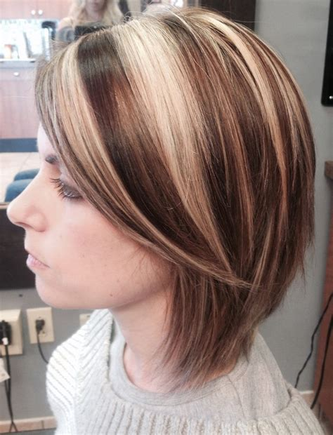 short hairstyles with chunky colors the 14 best images about chunky highlight short hair on