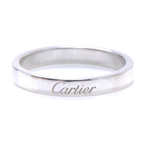 cartier platinum engagement ring 7 75