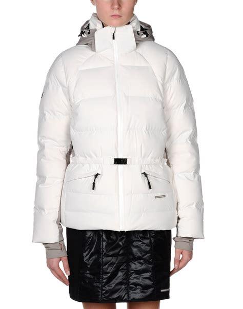 design white jacket porsche design sport by adidas down jacket in white lyst