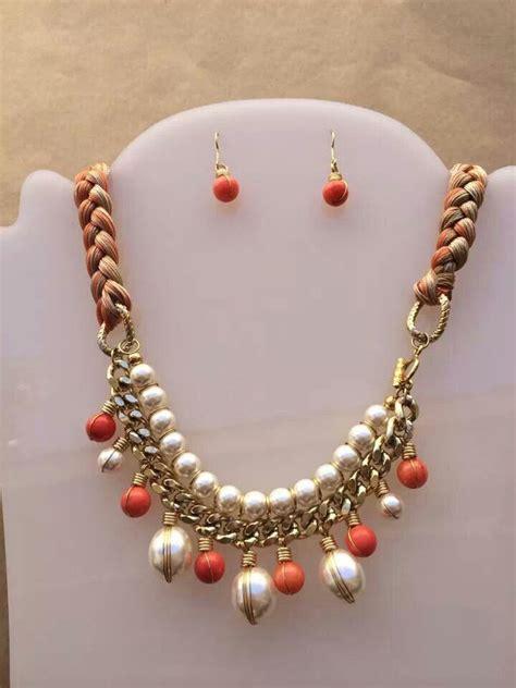 como hacer un collar collar perlas y piedras con trenza hilos collares