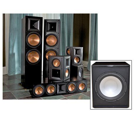 klipsch speakers rf7ii home theater system two free home