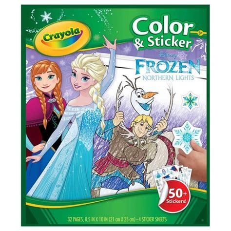 frozen coloring pages crayola crayola color sticker book disney frozen northern lights