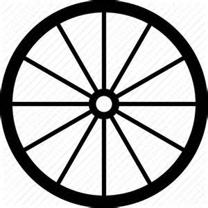 Wheel And Spoke Outline by Brougham Wheel Coach Dray Gharry Oldschool Wagon