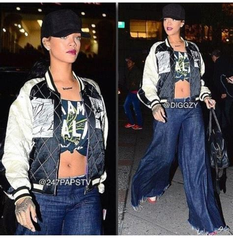Best Quality Fedorafashion Bomber Rihanna 17 best images about rihanna style on leather skirt bull nose ring and