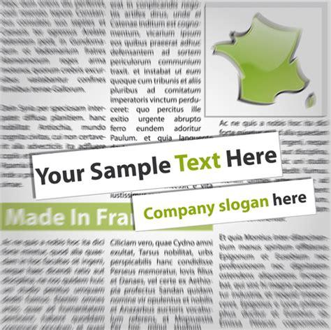 design elements newspaper elements of newspaper design vector graphics free vector