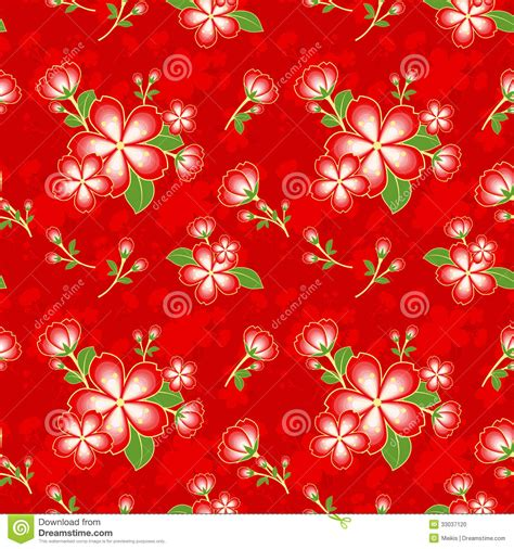new year design pattern flower seamless pattern stock