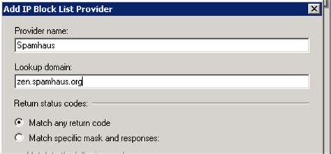 Ip Address Block Lookup Exchange 2010 Edge Transport Server Configuring Ip Block List Providers