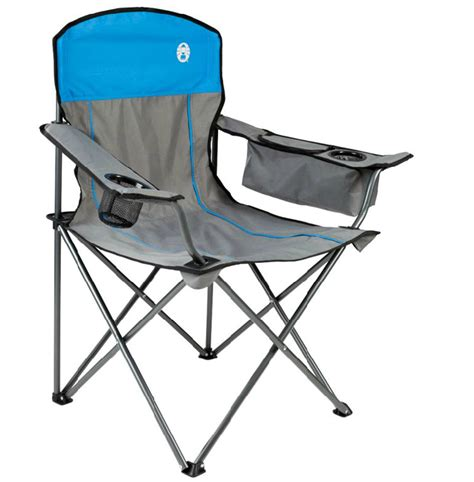 coleman oversized chair with cooler blue coleman cing outdoor oversized chair w cooler