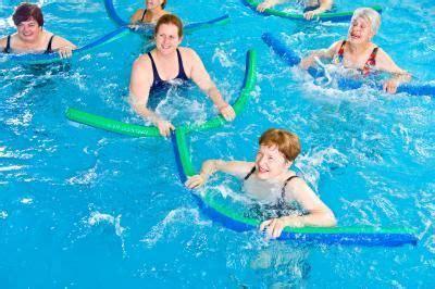 swimming pool exercises   aqua noodle sports