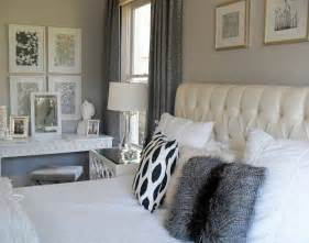 Silver White Bedroom - current project transforming a neutral master bedroom into a grey and white retreat design