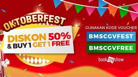 bookmyshow indonesia promo code diskon tiket bioskop dari bookmyshow dalam rangka oktoberfest