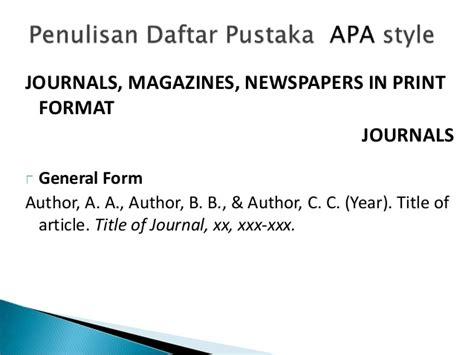 penulisan daftar pustaka nama dibalik penulisan kutipan daftar pustaka 2012