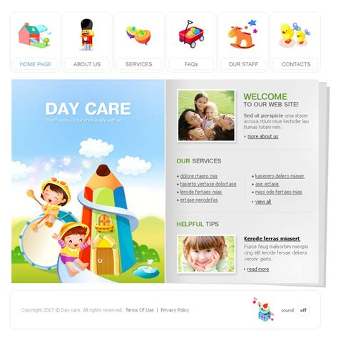day care flash template 14470