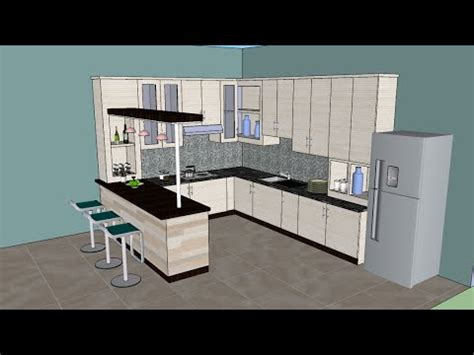 kitchen design sketchup sketchup tutorial interior design kitchen