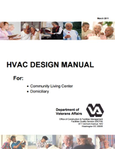 design criteria for ventilation hvac community living center and domiciliary wbdg