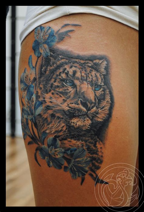 leopard tattoo snow leopard www pixshark images galleries