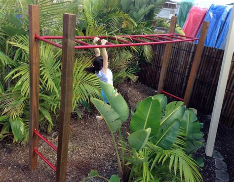 backyard monkey bars best quality timber play equipment aarons outdoor living