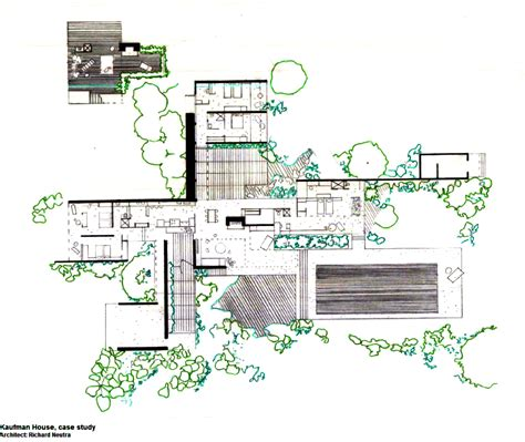 kaufmann house floor plan kaufmann desert house richard neutra 1946 the home