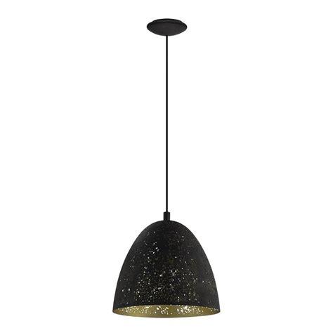 Matte Black Pendant Light Eglo Tarbes 3 Light Matte Black Pendant 94189a The Home Depot
