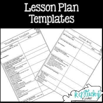 lesson plan template kentucky guided reading lesson plan templates by kentucky kinder tpt