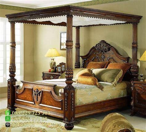 Ranjang Jati Kanopi tempat tidur kanopi mewah ukiran jepara dengan harga jual