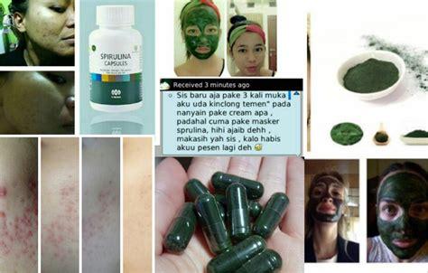 Masker Green Mask Spirulina masker wajah green mask spirulina tiens
