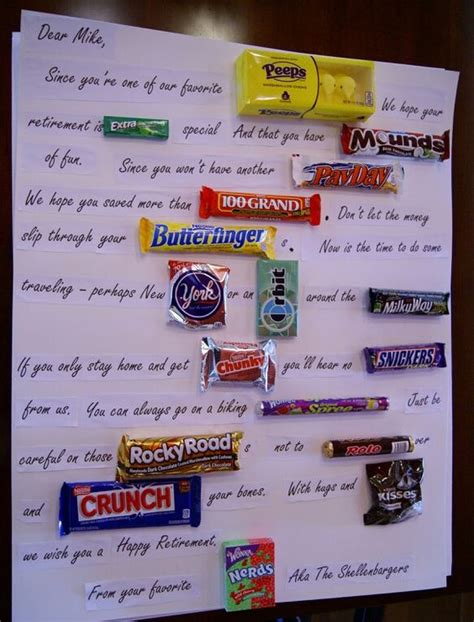 retirement candy bar poster sayings pictures to pin on