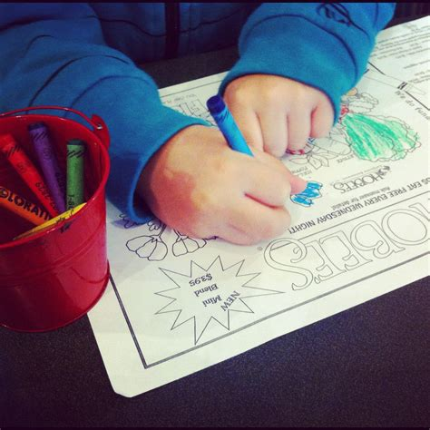 kid coloring are cool hobee s restaurants