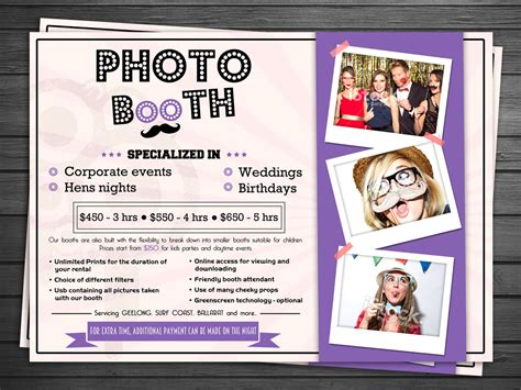 Bold Serious Flyer Design For Cheeky Moments By Debdesign Design 5299051 Photo Booth Brochure Template