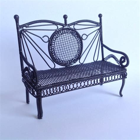 small black bench df585 black small bench online dolls house superstore