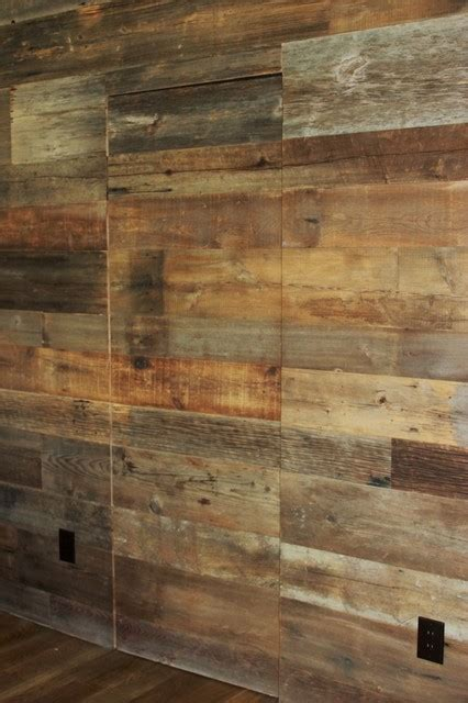 wall of wood reclaimed barn wood walls contemporary dallas by