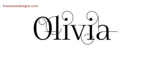tattoo ideas for the name olivia olivia archives free name designs