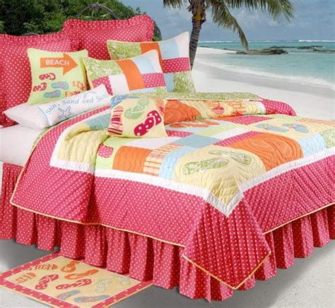flip flops on the beach bedding oceanstyles com