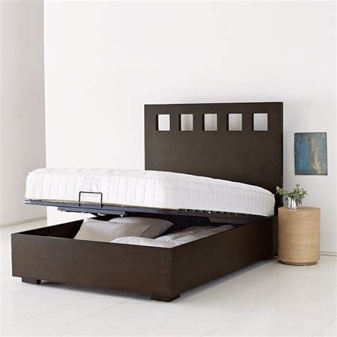 Modern Bed Frame With Storage Pivot Storage Bed Frame Modern Beds By West Elm