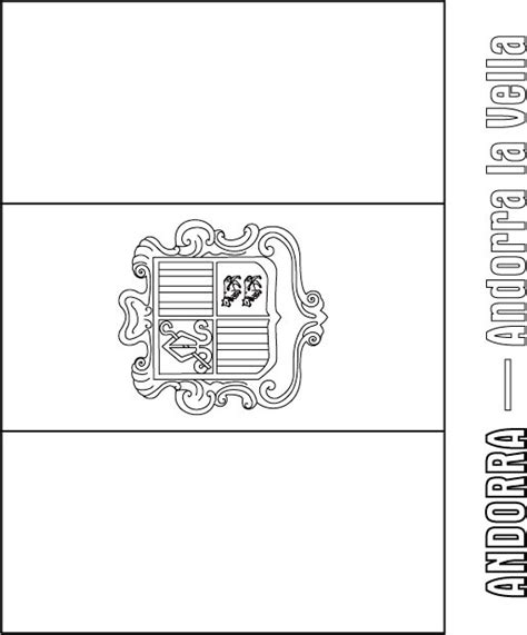 coloring pages of the spanish flag andorra flag coloring page coloring page spain flag