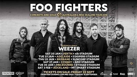 foo fighters ticket sale foo fighters and weezer announce 2018 tour dates in