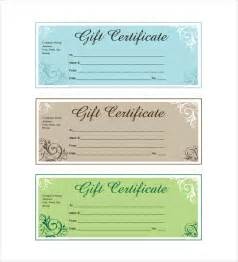 free downloadable gift certificate templates 14 business gift certificate templates free sle