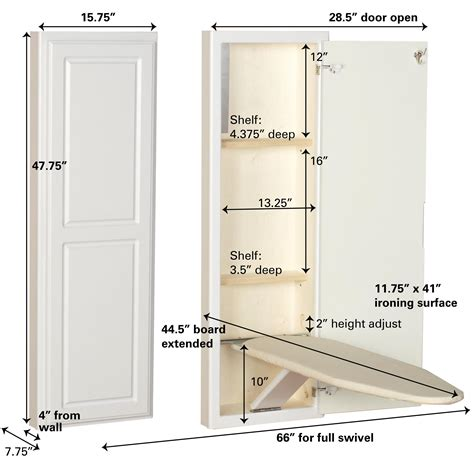 stow away ironing board cabinet amazon com household essentials 18100 1 stowaway in wall