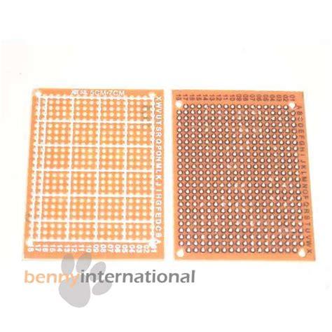 breadboard circuit board circuit board pcb breadboard 7x5cm diy prototype kit printed 2 pcs ebay