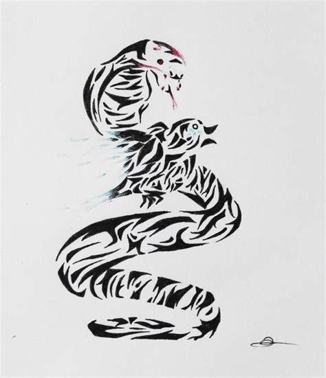 tattoo tribal oiseau tribal serpent oiseau