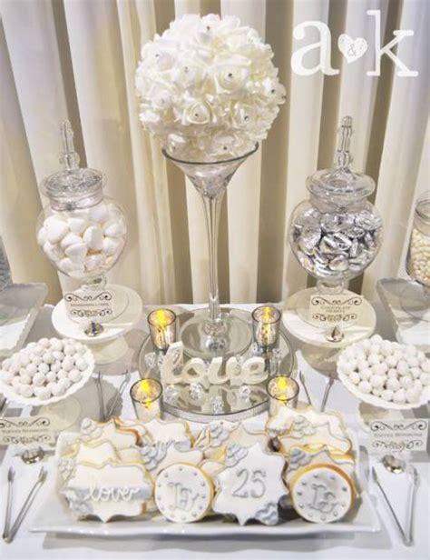 silver wedding anniversary dessert buffet by a silver in 2019 anniversary dessert bar