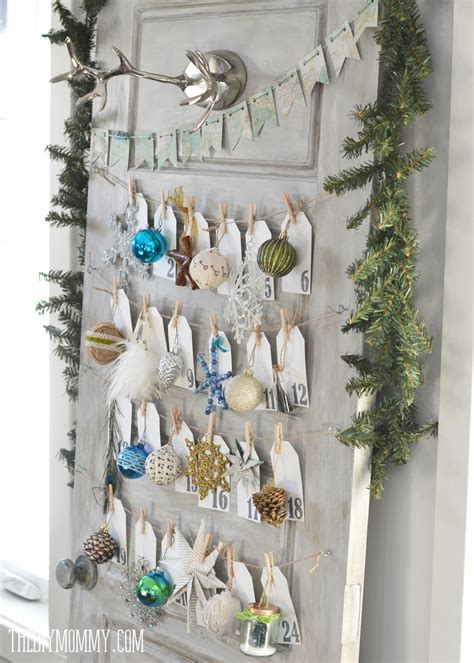 door ornaments make a daily ornament advent calendar from an door