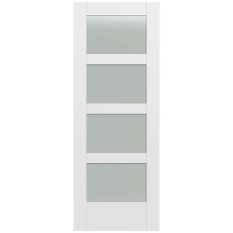 Home Depot White Interior Doors Jeld Wen 32 In X 80 In Moda Primed Pmt1044 Solid Wood Interior Door Slab W Translucent