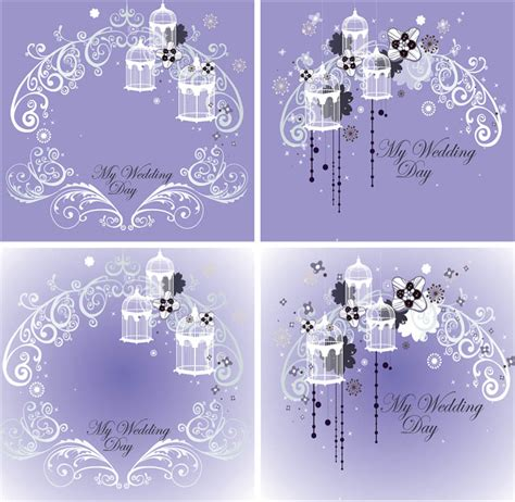wedding card template wedding vector graphics page 10