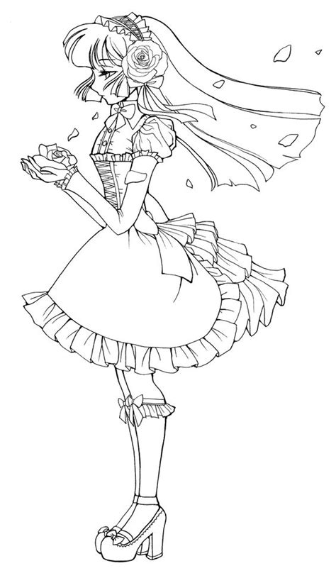 Cute Anime Girl Coloring Pages Gianfreda Net Anime Coloring Pages Deviantart Free