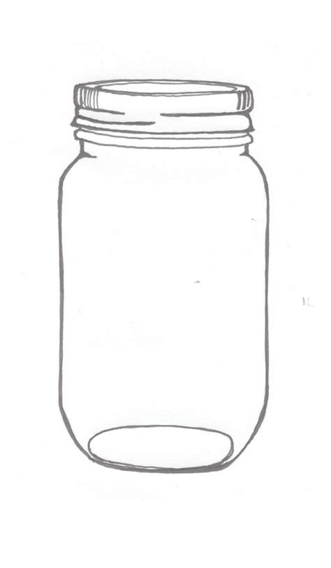 jar template jar printable clipart best