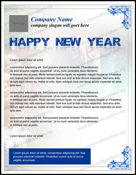 new year 2016 letter template new year letterhead template