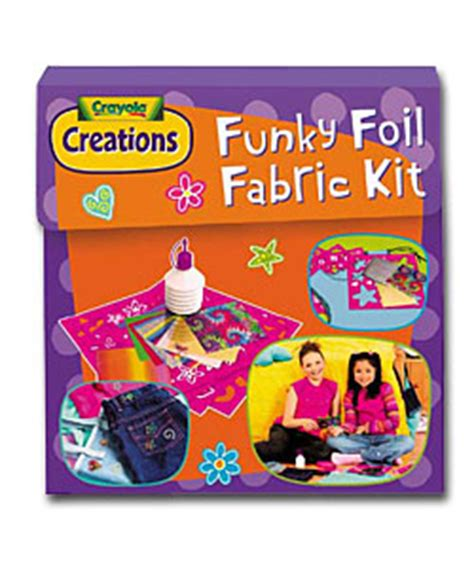 crayola creations printable fabric instructions crayola funky foil fabric kit colouring in review