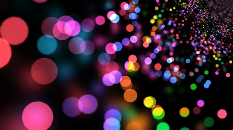 wallpaper colorful lights circles abstract