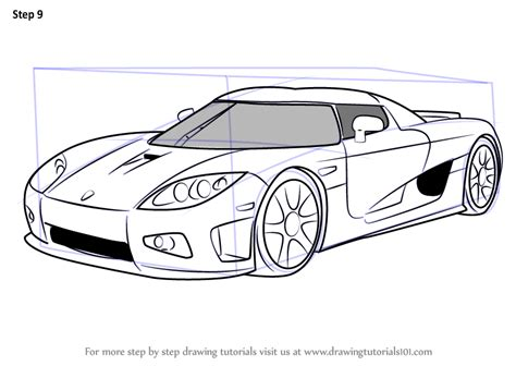 koenigsegg car drawing learn how to draw koenigsegg ccx sports cars by